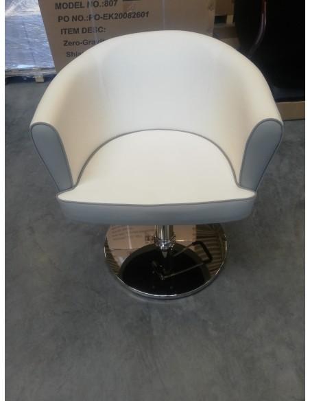FOTEL FRYZJERSKI HAIR SYSTEM  T-820 white/grey