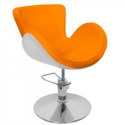 FOTEL FRYZJERSKI HAIR SYSTEM MODEL Q-003F white/orange