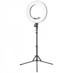 "LAMPA PIERŚCIENIOWA RING LIGHT 18"" 48W LED CZARNA + STATYW"