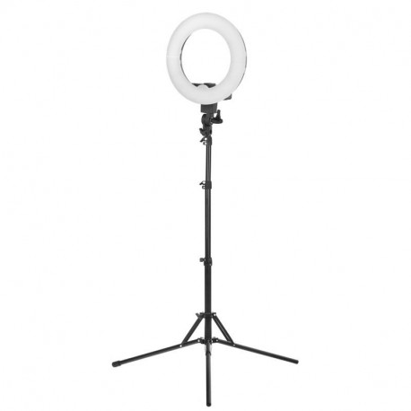 "LAMPA PIERŚCIENIOWA RING LIGHT 12"" 35W LED CZARNA + STATYW"